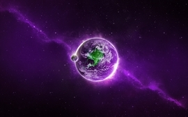 Purple earth wallpaper