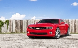 Red cars vehicles supercars tuning chevrolet camaro wheels sport wallpaper