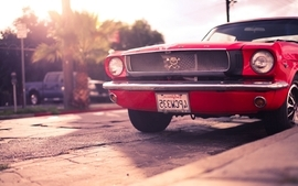 Red vehicles ford mustang wallpaper