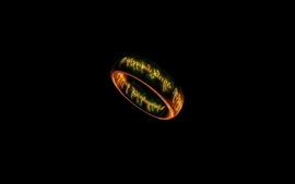 Rings the lord of the rings black background wallpaper