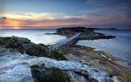 Rocks bridges sunlight wallpaper