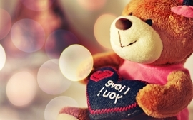 Romantic teddy bears i love you wallpaper