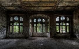 Ruins dark grunge room hdr photography wallpaper