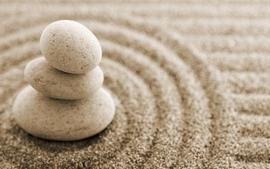 Sand rocks macro wallpaper