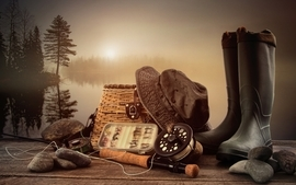 Shoes fishing gear wallpaper