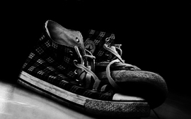 Shoes versus converse monochrome sneakers wallpaper