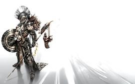 Skulls armor shield skeletons artwork warriors spears wallpaper