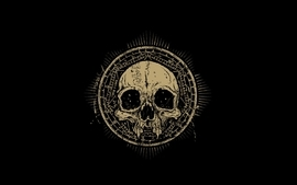 Skulls artwork black background wallpaper