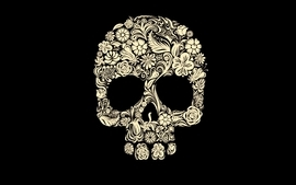 Skulls flowers wallpaper
