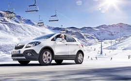 Snow cars opel vehicles 2 wallpaper