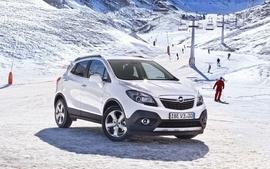 Snow cars opel vehicles wallpaper