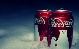 Snow cocacola new year soda polar bears soda cans wallpaper