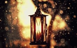 Snow lanterns wallpaper
