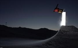 Snow men snowboarding snowboard absract wallpaper