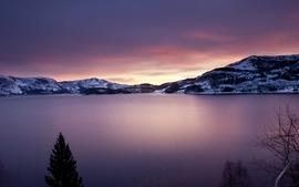 Snow norwegian lakes wallpaper