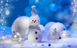 Snow snowmen christmas decorations wallpaper