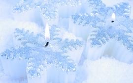 Snowflakes macro candles wallpaper