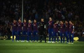 Soccer lionel messi fc barcelona carles puyol gerard piqu camp wallpaper
