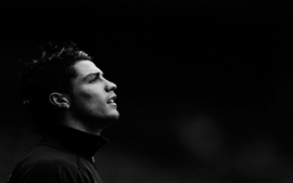 Soccer monochrome cristiano ronaldo faces wallpaper