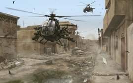 Soldiers cityscapes military helicopters buildings artwork black wallpaper