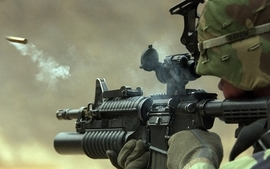 Soldiers guns army military rifles wallpaper