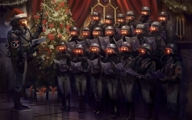 Soldiers video games humor christmas artwork killzone 3 wallpaper