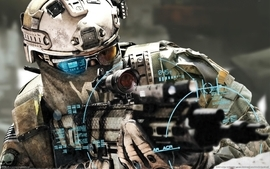 Soldiers video games military futuristic wall warfare weapons wallpaper