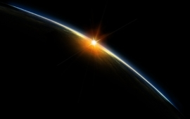 Space sunset view from space wallpaper