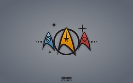 Star trek symbols wallpaper
