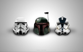 Star wars artwork helmets wallpaper