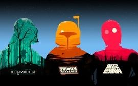 Star wars c3po darth vader boba fett star wars the empire wallpaper