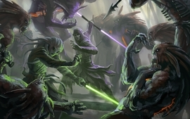 Star wars fight lightsabers wallpaper