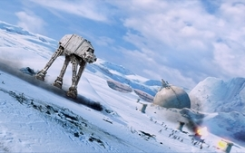 Star wars hoth atat the empire strikes back wallpaper