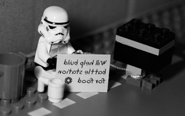Star wars lego stormtroopers signs grayscale monochrome wallpaper