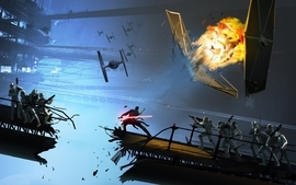 Star wars tie fighters wallpaper