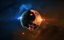 Stars galaxies planets digital art space art skyscapes joejesus wallpaper