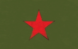Stars rage against the machine simple background green wallpaper