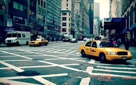 Streets traffic new york city taxi wallpaper