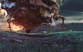 Studio ghibli anime howls moving castle hauru wallpaper