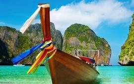 Summer paradise boats vacation wallpaper