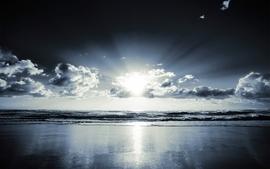 Sunrise ocean clouds landscapes shore wallpaper