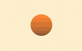 Sunset abstract sun minimalistic orange retro circles geometry wallpaper