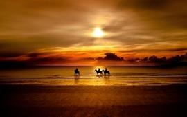 Sunset beach photography wallpaper