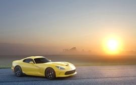 Sunset cars dodge sunlight supercars dodge viper gts gts skies wallpaper