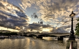Sunset cityscapes england london united kingdom rivers river wallpaper
