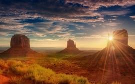 Sunset clouds landscapes nature desert sunlight mesas wallpaper