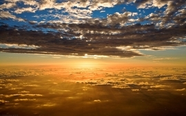 Sunset clouds landscapes nature sun skyline sunlight skyscapes wallpaper