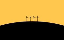 Sunset energy windmills energy sunset wallpaper