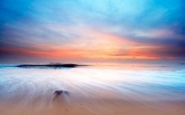 Sunset landscapes nature coast beach shore oceans dawn of dreams wallpaper