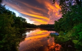 Sunset landscapes nature hdr photography reflections wallpaper